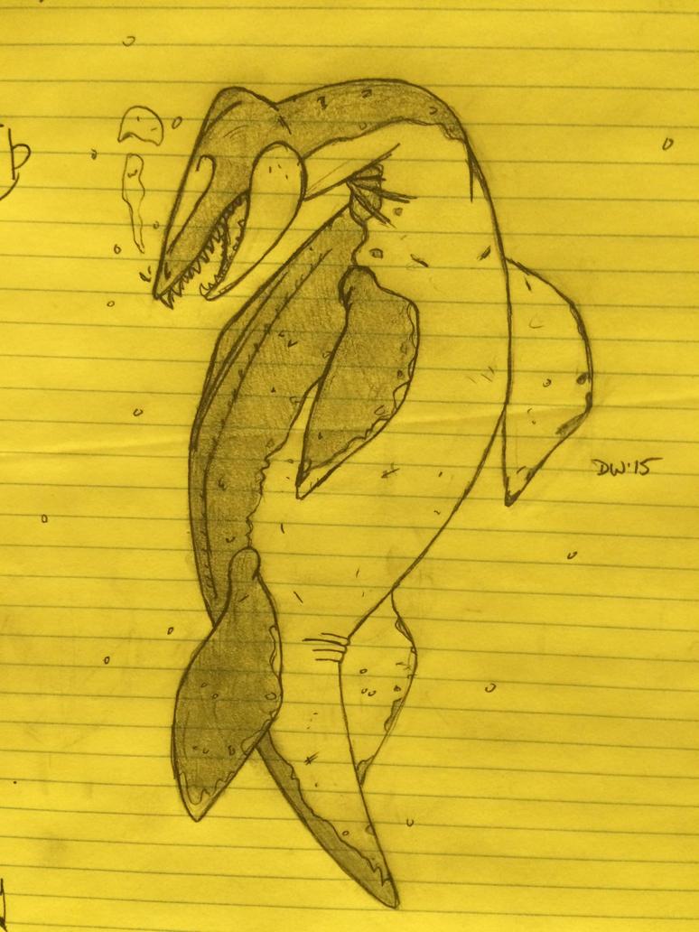Plesiosaur by DwDrawings