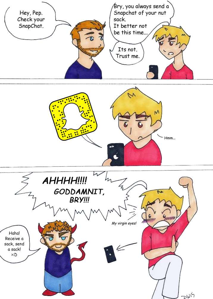 Bry's Snapchat Fun by DwDrawings