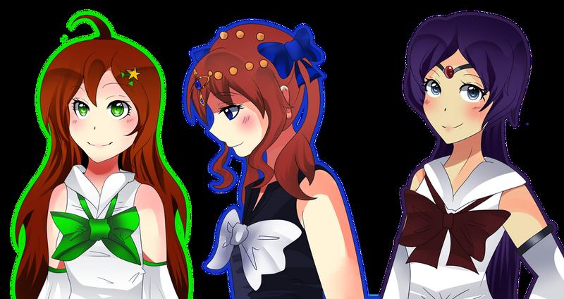 Kii ku Mimi and Sailor Nibiru by Elizavveta