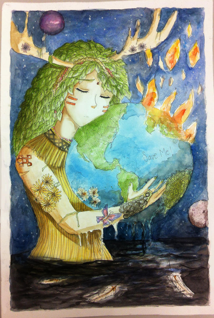 Save the earth by aleriy on deviantart for Save energy painting