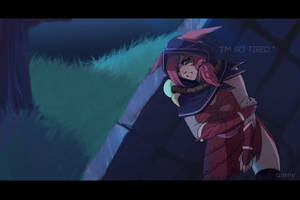 [Xayah and Rakan] After the battle 1 by Aleriy