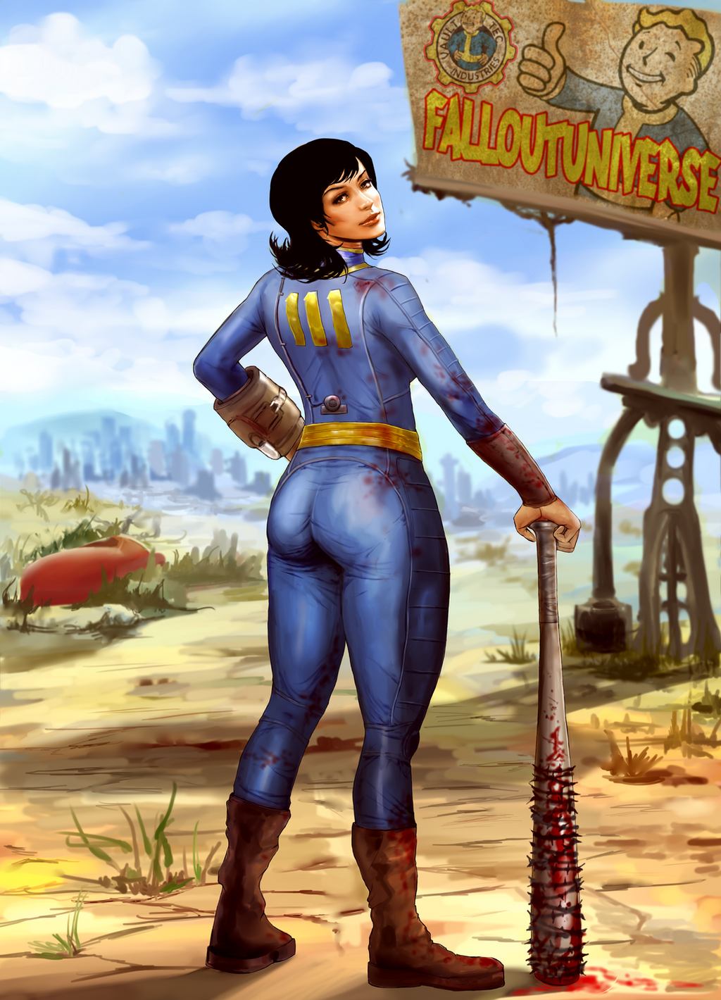 Fallout 4 - Vault Girl Pinup by Galina Zhukovskay - Album on Imgur