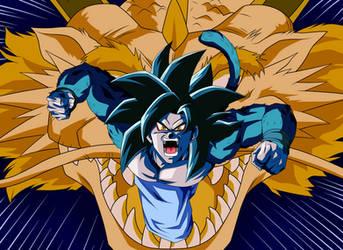 Goku Ssj4 [Golpe Explosivo Del Dragon] by arbiter720