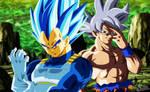 Goku and Vegeta - Tournament of power by arbiter720