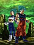 Goku y Vegeta Super Saiyajin Blue