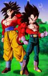 Goku y Vegeta [Super Saiyajin 4]