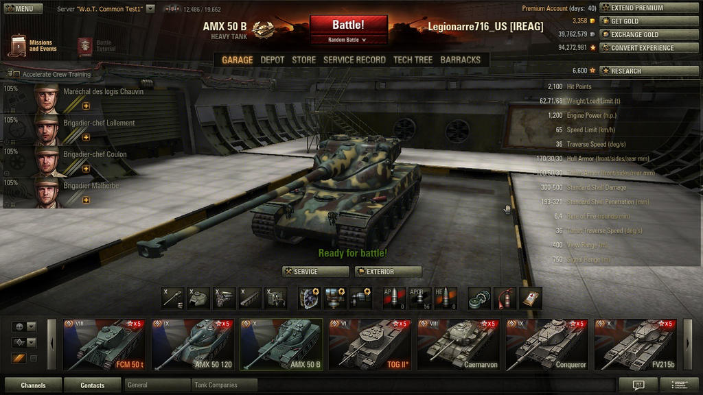 how to play french amx 50 b better