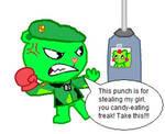 Flippy vs Nutty-punchbag