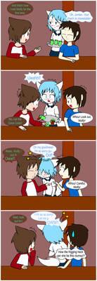 4koma - Clumsy anime girl