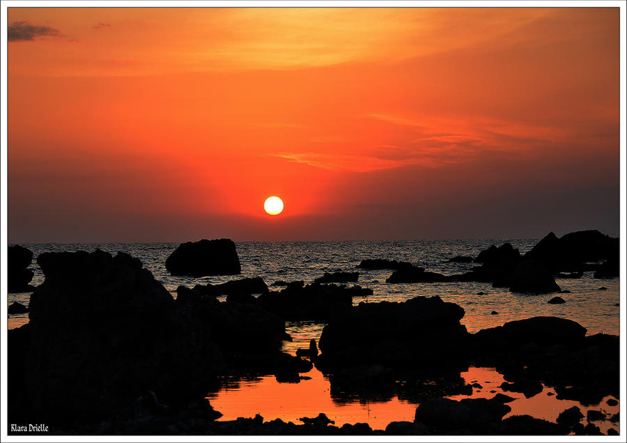 Sunset on a Cuban beach by KlaraDrielle