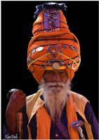Sikh in ceremonial dress by KlaraDrielle