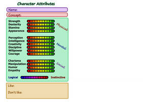 Character Attributes Meme by Avaritia-Nyx