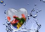 Windows7 Glass Heart splashed