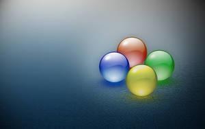 Windows four balls in mist by AbhishekGhosh