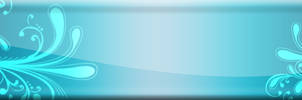 Floral glossy banner 1