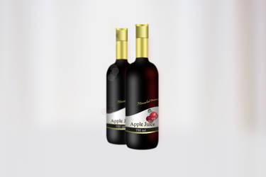 Apple Juice Bottle 2 by AbhishekGhosh