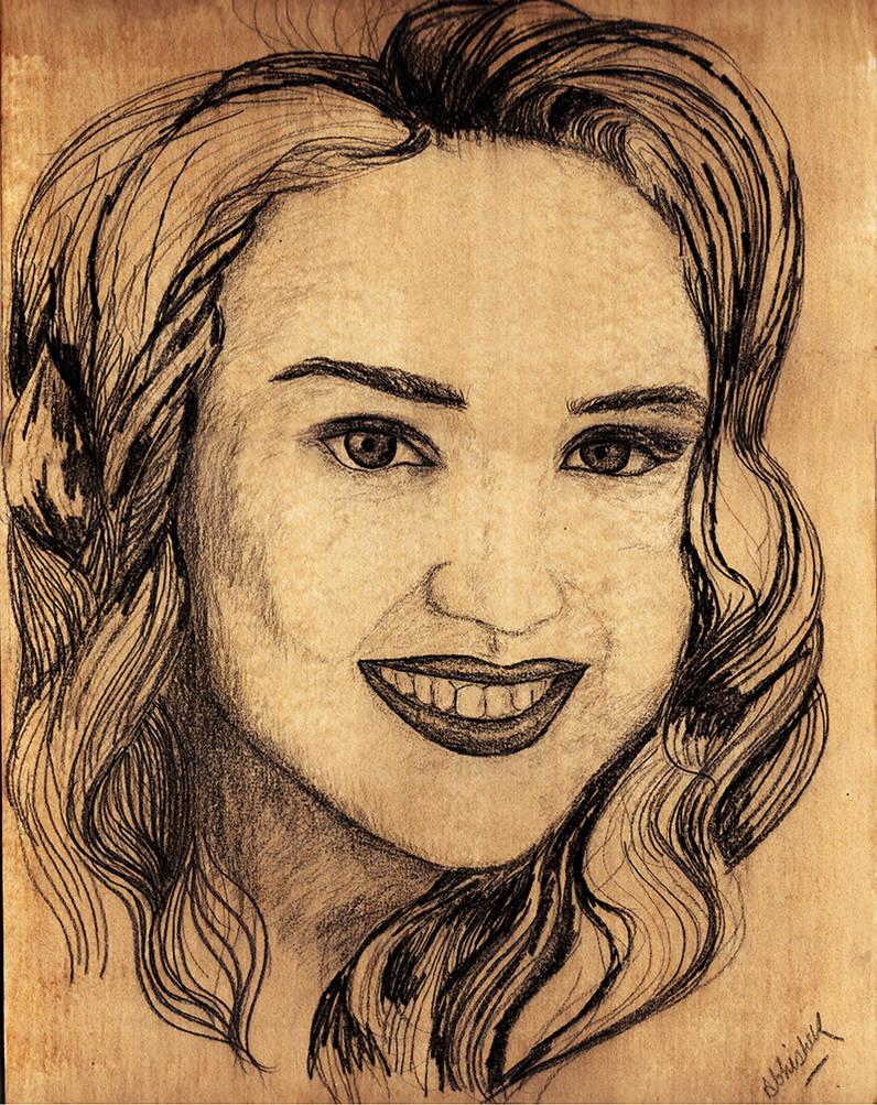 Indian Girl Sketch (Scanned Original Version)