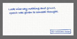 William Osler Quote