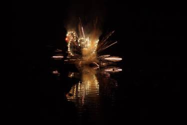 Fireworks Durga Puja 2018 Peerless Nagar by AbhishekGhosh