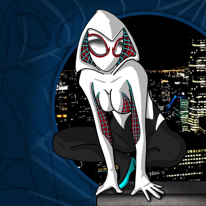 Gwen Stacy Spiderverse by DarkstreamStudios