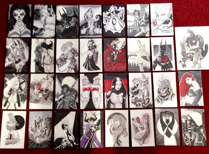 My Entire 2014 Inktober by DarkstreamStudios