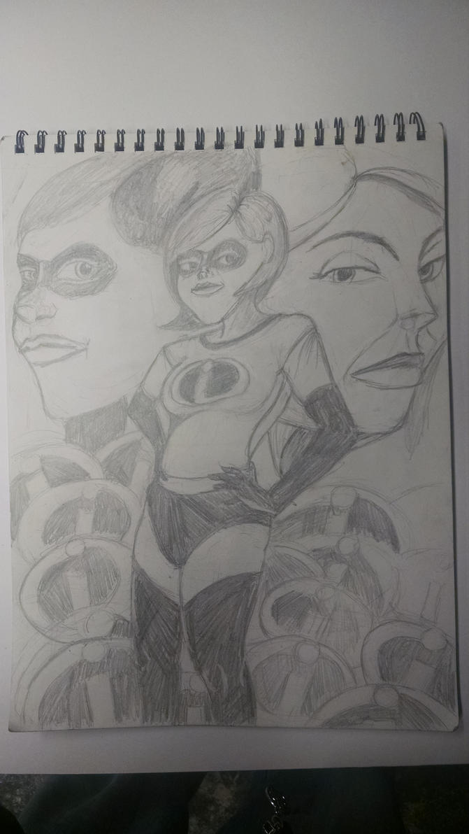 the incredibles sketch by synnworld