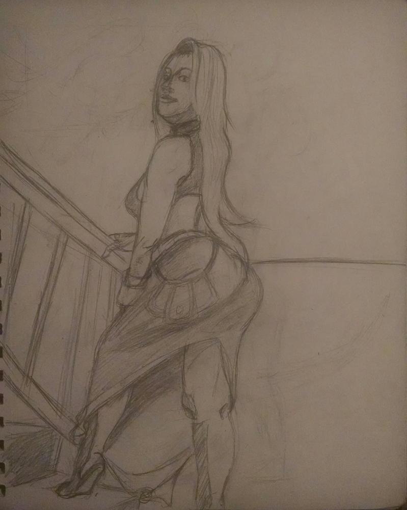 Dancer Sketch Final fantasy tactics by synnworld