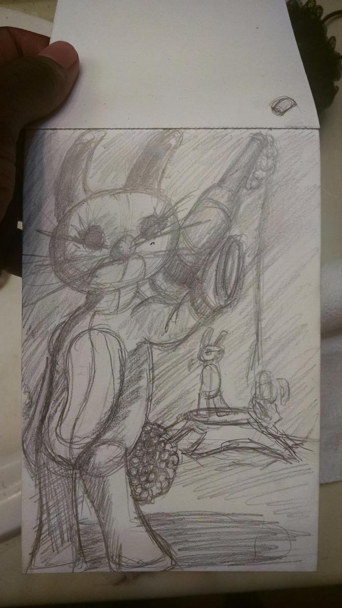 Bunny brigade sketch by synnworld