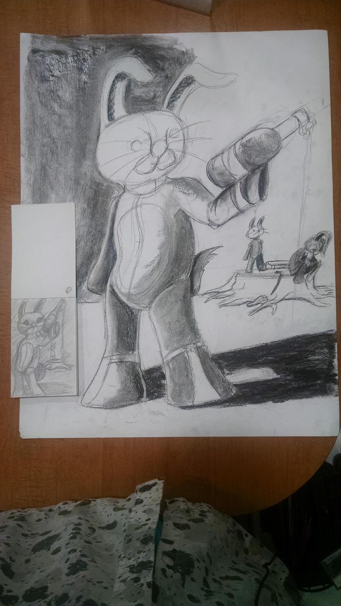 The Bunny Brigade WIP by synnworld