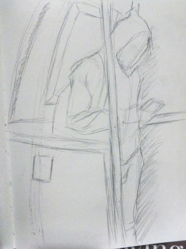 Onsite sketching 5 by synnworld