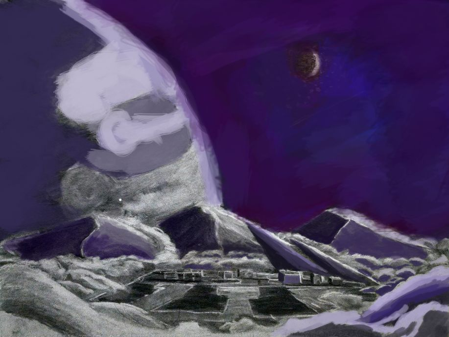 The outer frontier digital painting WIP by synnworld