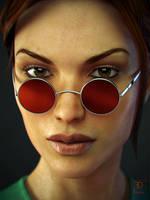 Lara Close-up by FredelsStuff