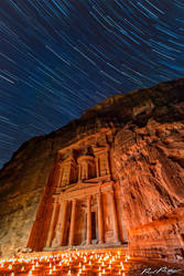 Petra by Night under the Stars