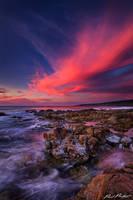 Sunset over Yallingup, Western Australia by paulmp