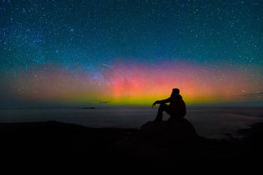 Aurora Australis in Augusta, Western Australia by paulmp