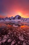 Lemaire Channel Sunrise - Antarctica