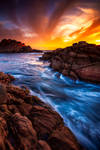 Sunset over Canal Rocks, Western Australia