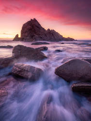 Sunset over Sugarloaf Rock by paulmp