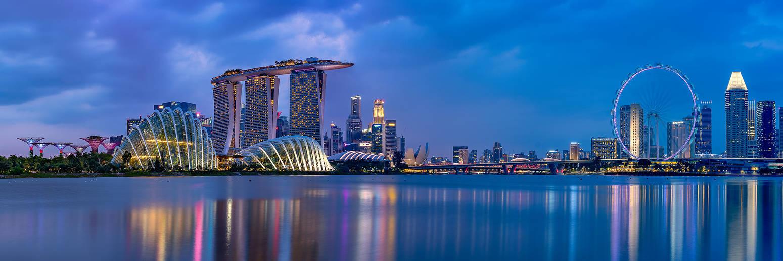 Singapore Sunset by paulmp