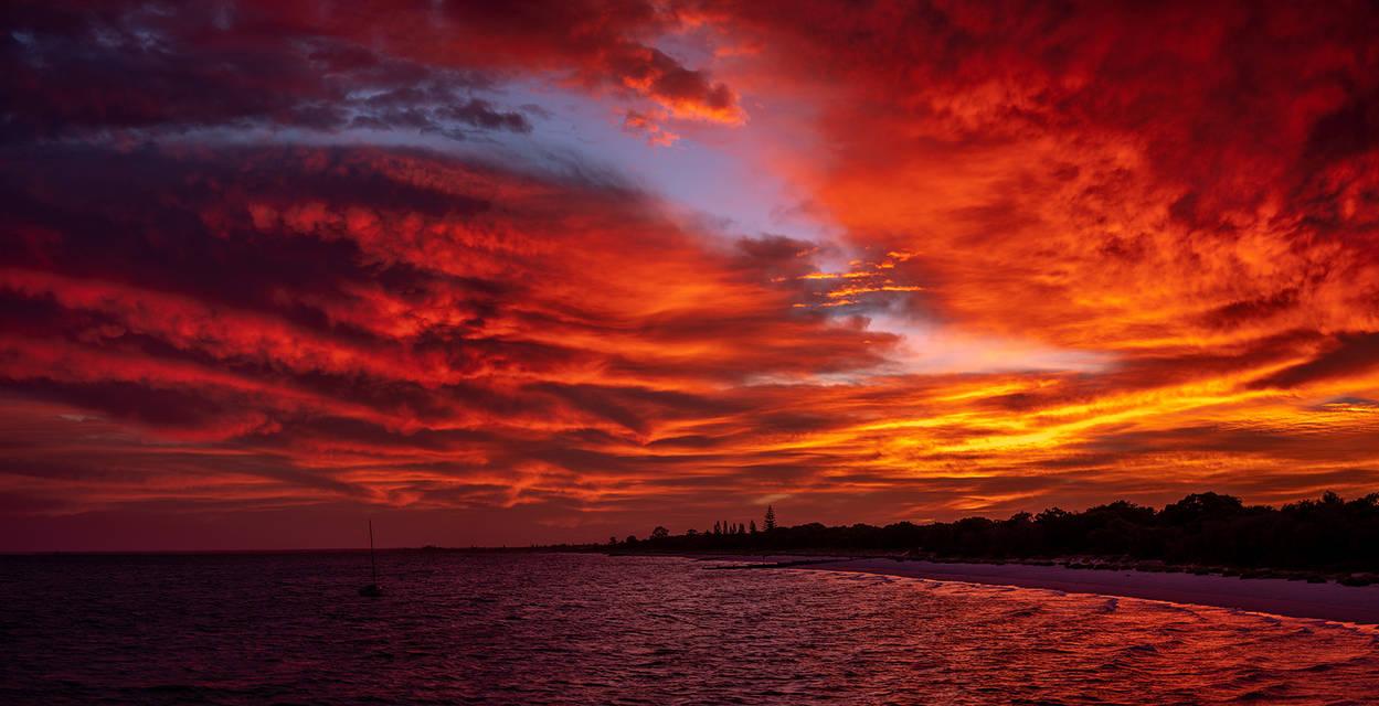 Sunrise over Abbey by paulmp