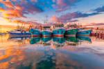 Sunrise at Fremantle by paulmp
