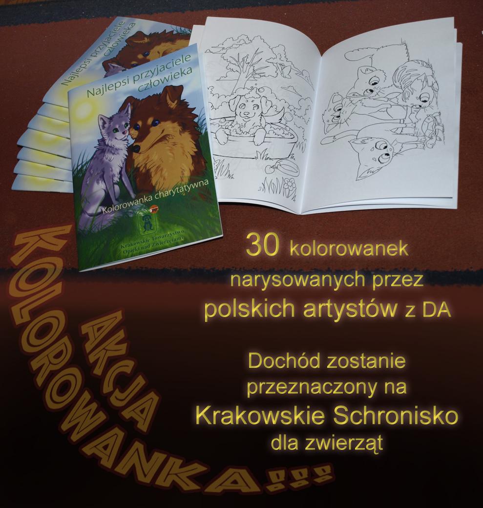 Akcja Kolorowanka/ Charity Coloring book by RoyalThebat
