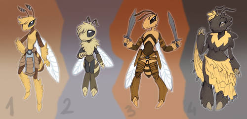 Bee Adoptables by RoyalThebat