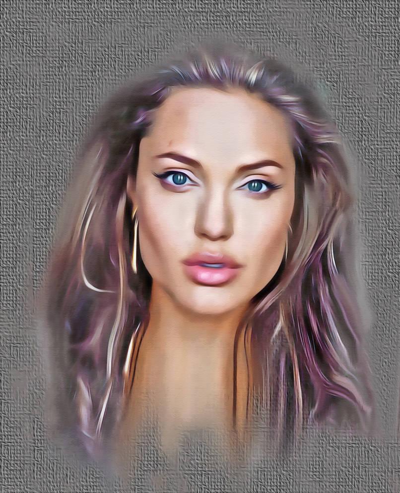 Angelina-Jolie. by frankartnumerique