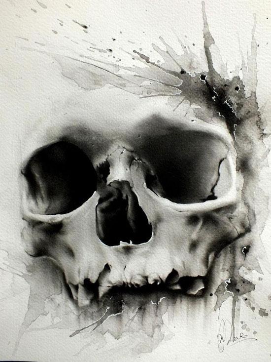 Glen Preece skull by nitchwarmer