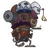 Howl's pixel castle by Jesterbug