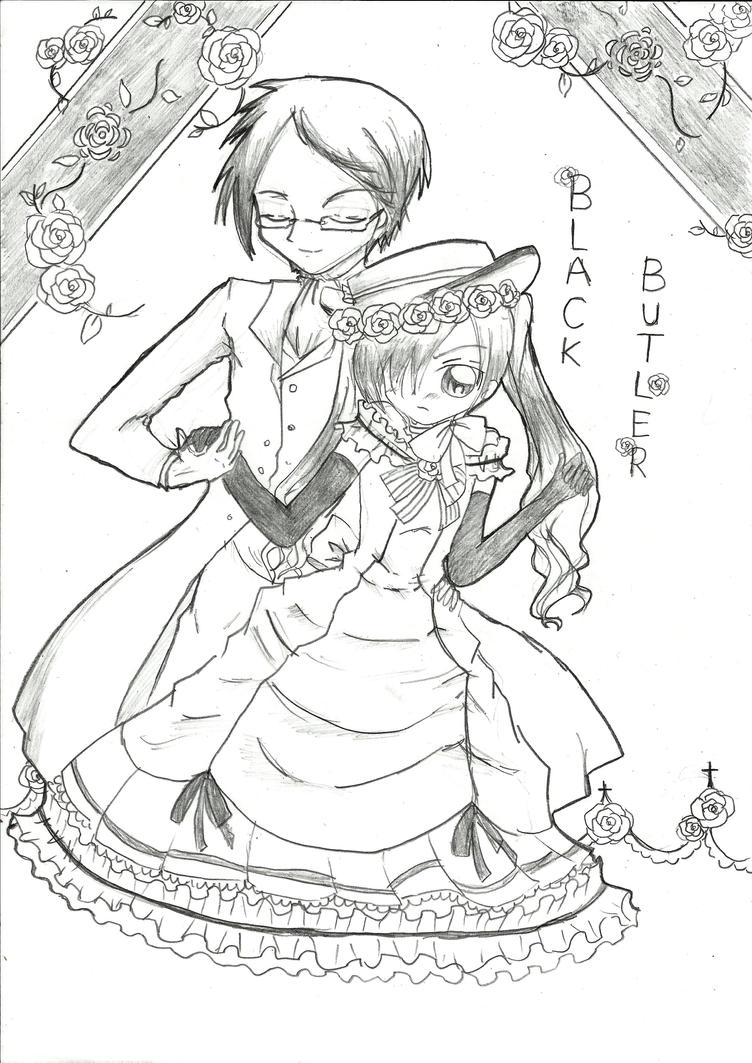 Printable Coloring Pages » Black Butler Coloring Pages - Free ...