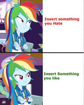 Rainbow Dash EQG Meme Template
