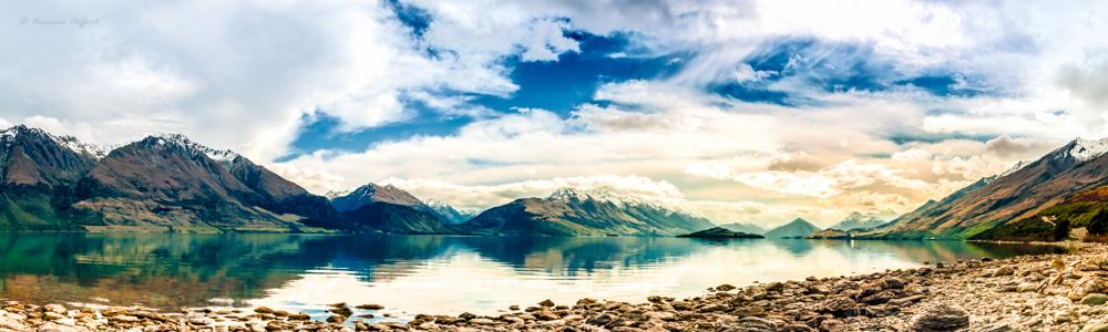 Lake Wakatipu, Queenstown by Von-Chan
