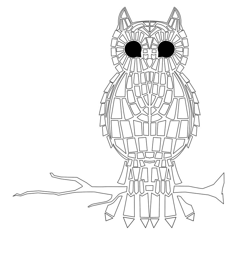 Animal Mosaic Colouring Pages : Free roman mosaic colouring pages